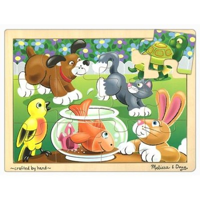 Playful Pets Jigsaw Puzzle (12 pc)   -     By: Melissa & Doug