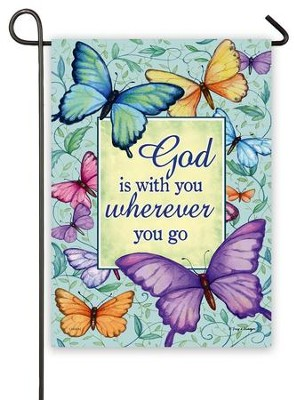 God Is With You Wherever You Go Flag, Small  -