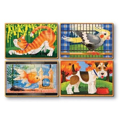 Pets Puzzles in a Box  -     By: Melissa & Doug