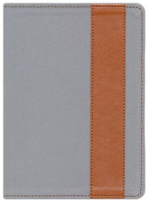 The Message//REMIX Bible--soft leather-look, grey/tan  -     By: Eugene H. Peterson