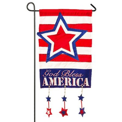God Bless America Star Flag, Small  -