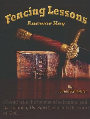 Fencing Lesssons, Answer Key    -     By: Susan Kemmerer