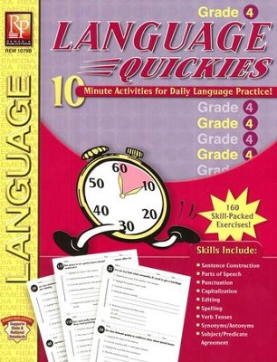 Language Quickies, Grade 4  -