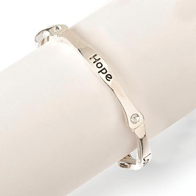 Words of Faith, Faith, Hope, Love Stretch Bracelet  -