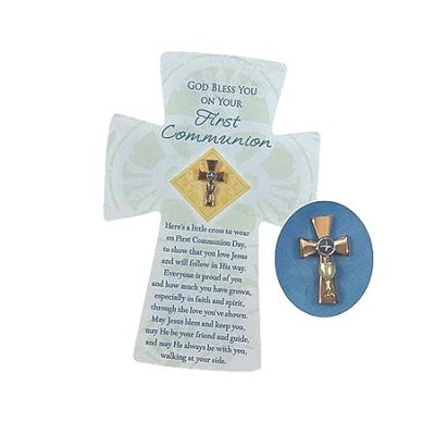 First Communion Pin and Card   -