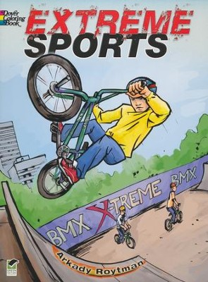Extreme Sports Coloring Book  -     By: Arkady Roytman