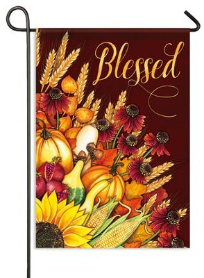 Blessed, Wheat Bouquet Flag, Small  -     By: Nicole Tamarin