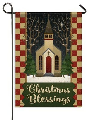 Christmas Blessings, Church Flag, Small  -     By: Angela Anderson