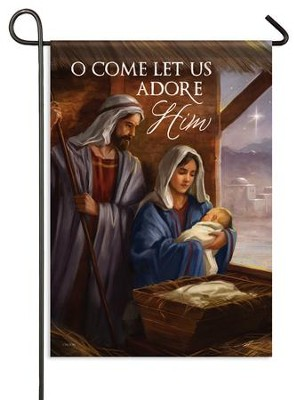 O Come Let Us Adore Him, Small Flag  -     By: Alan Lathwell