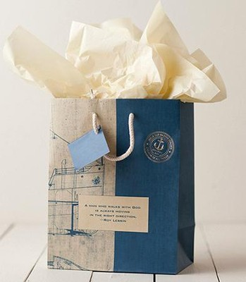 Noble Blueprint Gift Bag, Medium  -