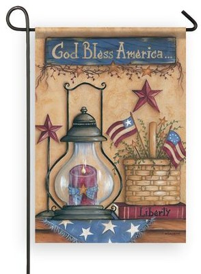 God Bless America, American Still Life, Flag, Small  -     By: Mary Ann June