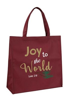Joy to the World, Luke 2:10, Tote Bag  -