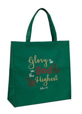 Glory to God in the Highest, Luke 2:14, Tote Bag  -