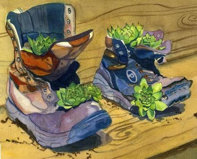 Work Boots Note Card   -     By: Laura Petrisin