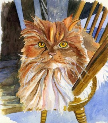 Fifi the Cat Note Card   -     By: Laura Petrisin