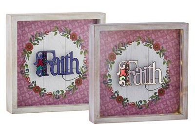 Faith Lightbox  -     By: Jim Shore