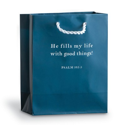 He Fills My Life Gift Bag, Blue, Small  -