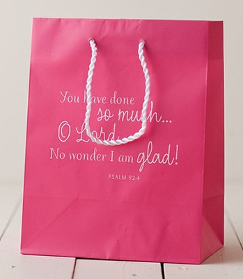 You Have Done So much O Lord Gift Bag, Pink, Medium  -