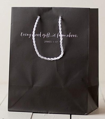 Every Good Gift is From Above Gift Bag, Gray, Medium  -
