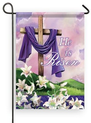 He Is Risen, Small Flag  -     By: Gina Jane