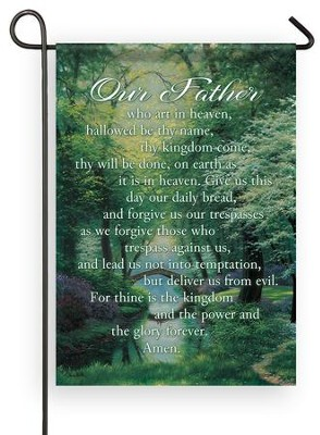 Our Father Who Art in Heaven Flag, Small  -     By: Charles White