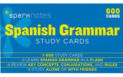 Spanish Grammar SparkNotes Study Cards  -     By: SparkNotes