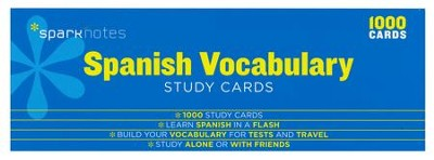 Spanish Vocabulary SparkNotes Study Cards  -     By: SparkNotes