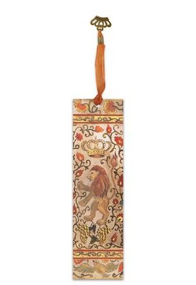 Illuminated Bookmark Esther Scroll-Lion  -