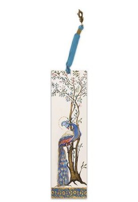 Illuminated Bookmark Esther Scroll-Peacock  -