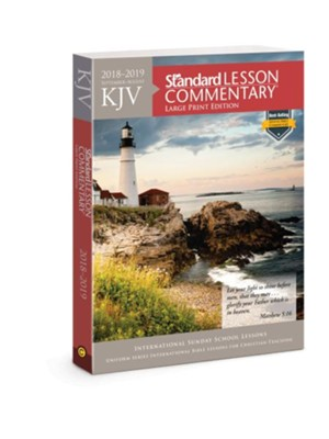 KJV Standard Lesson Commentary &#174 Large Print Edition 2018-2019  -
