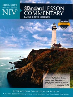 NIV &#174 Standard Lesson Commentary&#174 Large Print Edition 2018-2019  -