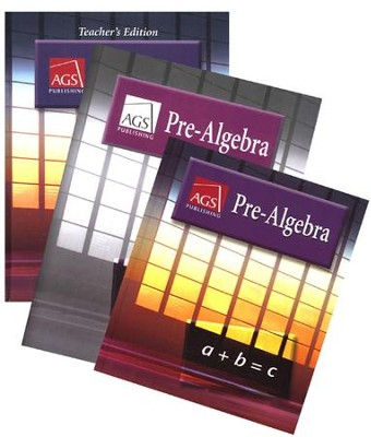 AGS Math Pre-Algebra Homeschool Bundle   -