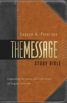 Annotated Message Study Bible - Slightly Imperfect  -     By: Eugene H. Peterson