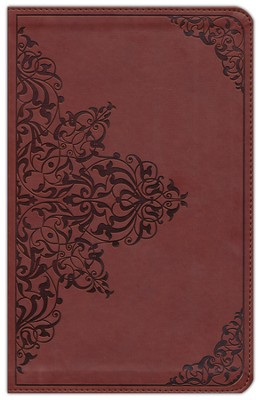 ESV Classic Thinline TruTone Bible, Nutmeg with Filigree Pattern - Imperfectly Imprinted Bibles  -