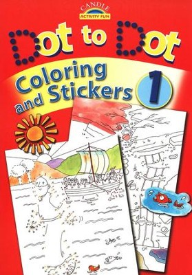 Candle Activity Fun: Dot to Dot Coloring and Stickers, Book 1    -     By: Juliet David