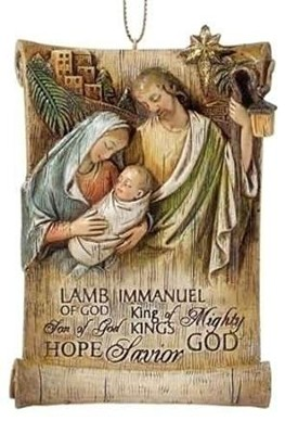 Jesus Name, Holy Family Ornament  -     By: Joseph Studio