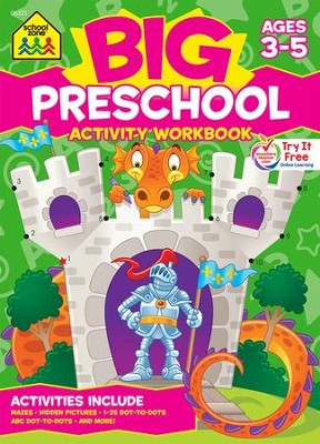 Big Preschool Activity Workbook   -