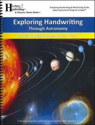 Exploring Handwriting Through Astronomy (Print Edition)  -