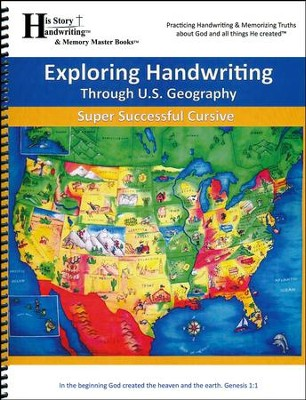 Exploring Handwriting Through U.S. Geography (Cursive Edition)  -