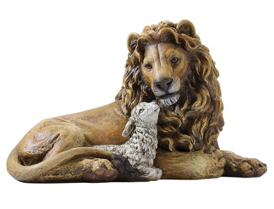 Lion and Lamb Figure  -
