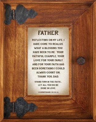 Father Framed Art  -     By: Lea Metts