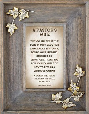 A Pastor's Wife Framed Art  -     By: Lea Metts