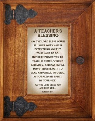 A Teacher's Blessing Framed Art  -     By: Lea Metts