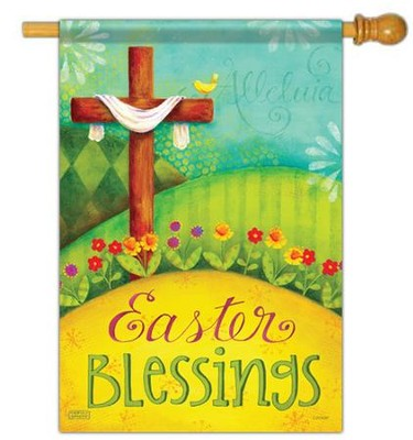 Easter Blessings, Large Flag  -