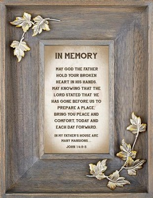 In Memory Framed Art  -     By: Lea Metts