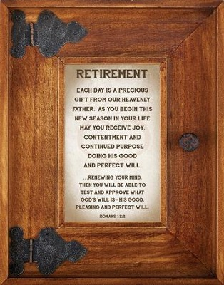 Retirement Framed Art  -     By: Lea Metts