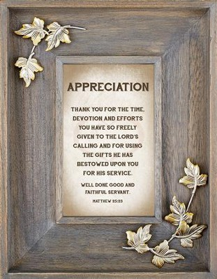 Appreciation Framed Art  -     By: Lea Metts