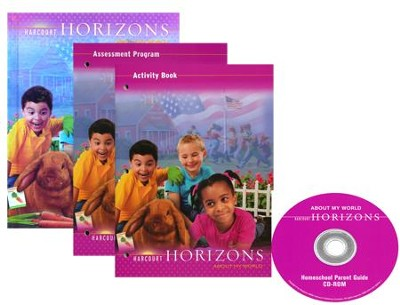 Harcourt Horizons Grade 1 Homeschool Package with Parent Guide CD-ROM  -