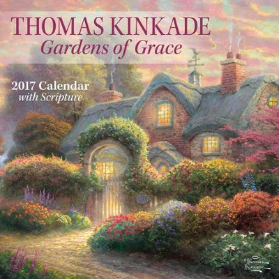 2017 Gardens Of Grace Wall Calendar  -     By: Thomas Kinkade