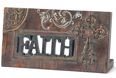 Faith Plaque with Cross  -